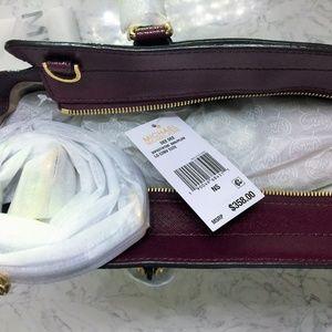 24d9eb8dad21 Michael Kors Bags - Michael Kors Dee Dee Convertible Tote Brown/Plum